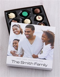 Personalised Family Photo Choc Tray