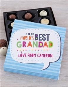 Personalised Best Grandad Choc Tray
