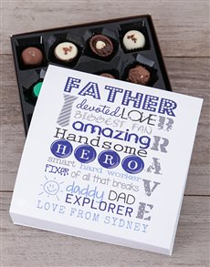 Personalised Devoted Dad Choc Tray