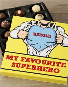 Personalised Favourite Superhero Chocs