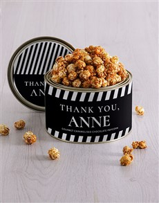 Personalised Thank You Popcorn Tin