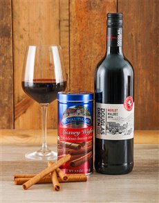 Chocolate Wafer & Wine Gift
