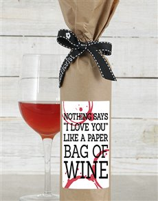 Paper Bag Wine in Craft Paper
