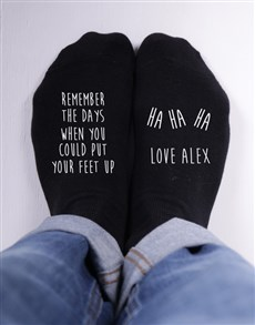 Personalised Remember The Days Socks