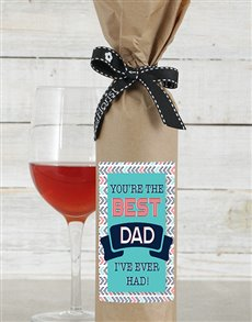 Best Dad Wine in Craft Paper