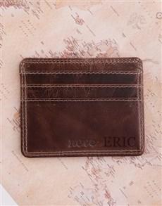Personalised Leather Slim Wallet