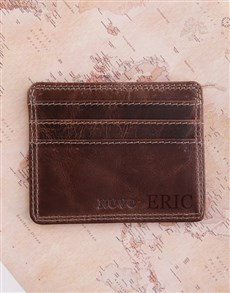 Personalised Leather Slim Wallet
