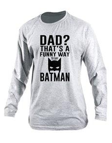 Personalised Dad Batman Longsleeve T Shirt