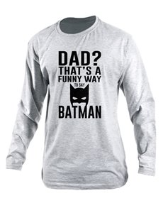 Personalised Dad Batman Longsleeve T Shirt