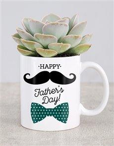 Fathers Day Succulent Mug