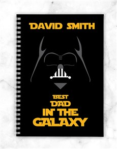 Personalised Galaxy Dad Notebook