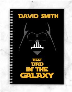 Personalised Galaxy Dad Notebook