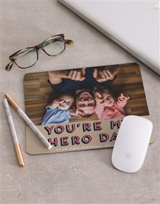 Personalised My Hero Mouse Pad