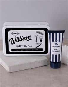 Personalised Gents Shaving Tin